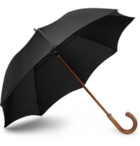 London Undercover City Gent Wood Handle Umbrella Black