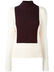 Cedric Charlier Ribbed Turtleneck Jumper White