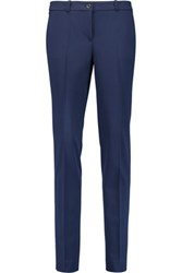 Michael Kors Collection Samantha Stretch Wool Twill Skinny Pants Navy