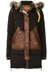 Parajumpers Padded Shearling Coat Black