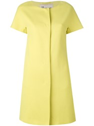 Herno Short Sleeve Coat Women Cotton Polyester Acetate 46 Yellow Orange