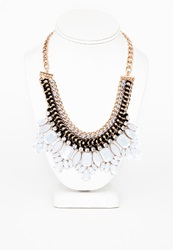 Missguided Arroj Assorted Gem Statement Collar Necklace Gold