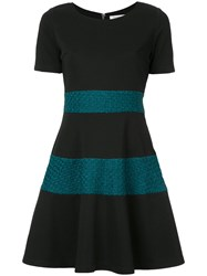 Guild Prime Knitted Panel Dress Polyester Polyurethane Black