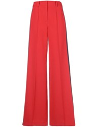 Milly Wide Leg Trousers Red