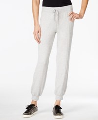 Styleandco. Style And Co. Sport Petite Knit Jogger Pants Only At Macy's Light Grey Heather