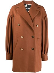 Just Cavalli Double Breasted Coat Neutrals