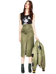 Pixie Market Champion Olive Pencil Skirt