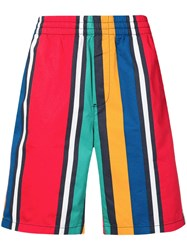 Tommy Jeans Striped Basketball Shorts Red