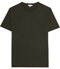 Reiss Bless Crew Neck T Shirt In Oxidised Green