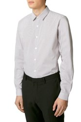 Topman Slim Fit Pin Dot Dress Shirt White