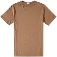 Sunspel Q82 Crew Neck Tee Brown