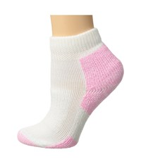 Thorlos Distance Walking Mini Crew Single Pair White Pink Women's Low Cut Socks Shoes