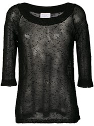 Snobby Sheep Sheer Structured Sweater Black