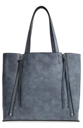 Chelsea 28 Chelsea28 Leigh Faux Leather Tote And Zip Pouch Blue Blue Del Mar