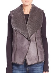 Design History Teddy Faux Fur Vest Elephant Grey