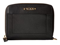 Tumi Voyageur Trifold Zip Around Black Wallet