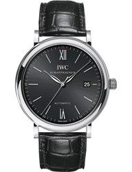 Iwc Iw356502 Portofino Stainless Steel Watch Silver Black