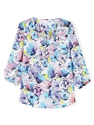 Dash Abstract Bloom Blouse Multi Coloured Multi Coloured