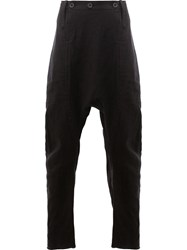 Lost And Found Ria Dunn Drop Crotch Trousers Black