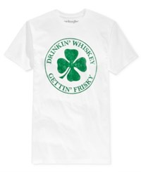 Mighty Fine Men's St. Patrick's Day Frisky Graphic Print T Shirt