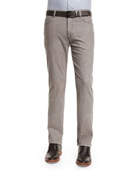 Ermenegildo Zegna Five Pocket Stretch Cotton Denim Jeans Khaki Size 34