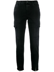 Closed Ankle Zip Slim Jeans Black