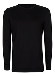 Topman Black Side Ribbed Jumper