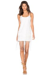 Lucy Paris X Revolve Lily Fringe Dress White