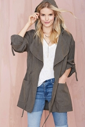 Nasty Gal Incognito Anorak Olive