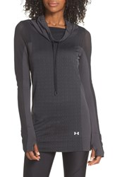 Under Armour Vanish Seamless Hoodie Charcoal Black Silver