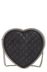 Stella Mccartney 'Falabella Heart' Quilted Faux Leather Crossbody Bag