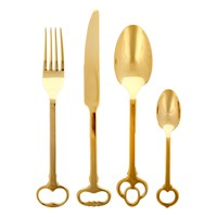 Seletti Keytlery Cutlery Set 24 Piece Gold