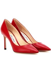 Jimmy Choo Romy 85 Patent Leather Pumps Red