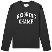 Reigning Champ Long Sleeve Ivy League Tee Black