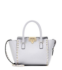 Valentino Rockstud Mini Leather Shoulder Bag Grey