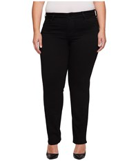 Liverpool Plus Size Sadie Straight Perfect Black Jeans In Black Rinse Black Rinse Women's Jeans
