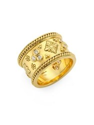 Temple St. Clair Nomad Diamond And 18K Yellow Gold Band Ring