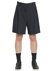 Jil Sander Pleated Stretch Cool Wool Shorts