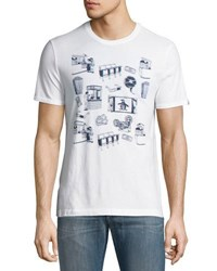 Original Penguin 3 Dimensional Cinema Scene Tee White