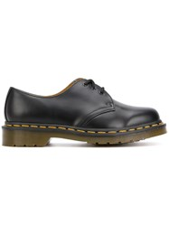 Dr. Martens Chunky Lace Up Shoes Leather Polyamide Rubber Black