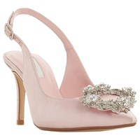 8b662fe850f4 Dune Bridal Collection Ceremony Wreath Brooch Slingback Court Shoes Pink