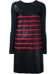 Cedric Charlier Two Tone Striped Dress Black