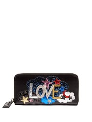 Saint Laurent Love Applique Leather Continental Wallet Black Multi
