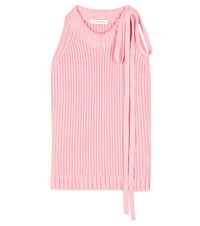 J.W.Anderson Cotton Knit Sleeveless Sweater Pink