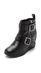 Dkny Hanna Wedge Booties Black