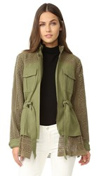 Sea Baja Lace Military Jacket Army