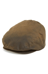 Barbour Waxed Cotton Driving Cap Olive