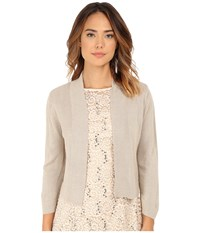 Rsvp Bre Shrug With Lurex Taupe Gold Women's Sweater