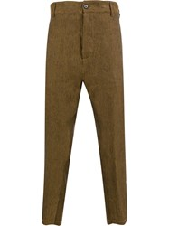 Ann Demeulemeester Duncan Cropped Trousers Black