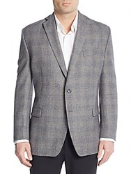 Lauren Ralph Lauren Regular Fit Check Wool Sportcoat Light Grey